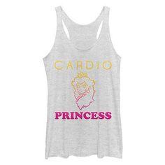 Nintendo Cardio Princess White Juniors Tank Top