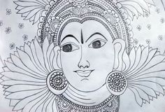 kerala mural basics pencil - Google Search