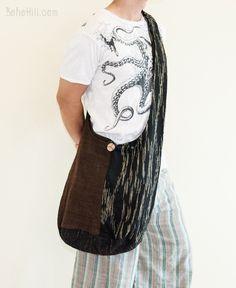 Unique Handwoven Purist Hippie Hobo Unisex Patchwork Monk Sling Shoulder Bag (MB-23)