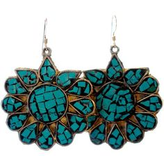 Malia Earrings in Turquoise by Catherine Nicole