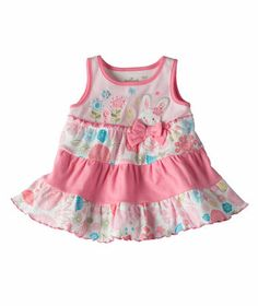Baby Girl Bunny Hop Ruffle Tier Dress | Hallmark Baby Clothes