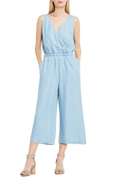 25a4246dbbaa Main Image - Two by Vince Camuto Surplice Chambray Culotte Jumpsuit Vintage  Jumpsuit