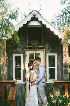 Cute rustic wedding photo