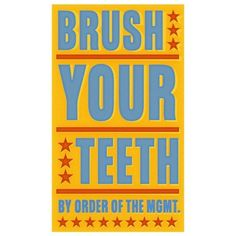 Brush Your Teeth Print 6 in x 10 in by johnwgolden on Etsy _ I love this whole series ... got to get for my home!