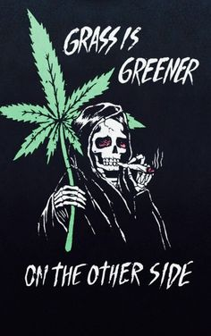 """grayarray:I have this picture above as the background for the lock-screen on my phone. I was at El Palenque today when the waiter, Alfredo, picks up my phone and unlocks it. He instantly smiles and say, """"You like the ah pot, eh? Weed Wallpaper, Skull Wallpaper, Arte Dope, Dope Art, Dope Kunst, Drugs Art, Marijuana Art, Smoke Weed, Dope Wallpapers"""