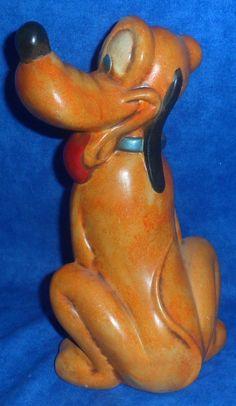 Ceramic  Disney PLUTO Figurine Statue  Vintage B8 #Disney