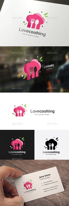 Love Cooking - Food Logo Templates