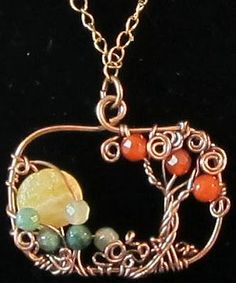 """I love Tree of Life pendants----this, with a """"skyline"""" look, is even better.  Can't you just see this sunrise!"""