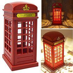 Vintage London Telephone Booth Designed USB Charging LED Night Lamp Touch Sensor Table Desk Light for Bedroom Students Dormitory Illumination Home Bar Decoration Novelty Birthday Adjustable Brightness Gosear http://www.amazon.com/dp/B00S69GBO6/ref=cm_sw_r_pi_dp_uOzkvb1ED1STH