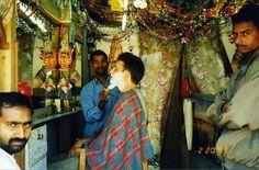 Nepalese shave - Pokhara, Nepal 2000 dārī दारी beard n.  2007 dāhrī दाह्री beard n. दाढी चाहिए dāḍhī cāhi'ē