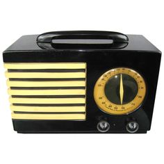 1940 Emerson 400 Aristocrat Catalin Bakelite Tube Radio Very Rare   From a unique collection of antique and modern decorative objects at http://www.1stdibs.com/furniture/more-furniture-collectibles/decorative-objects/