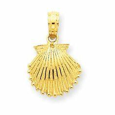 14k Scallop Shell Pendant - JewelryWeb JewelryWeb. $94.50. Save 50% Off!