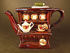 Royal Albert Cardew Large Welsh Dresser Teapot (Royal Doulton Royal Albert) at A Vintage Collectibles Showcase
