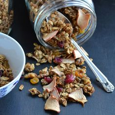 Maple Apple Crunchy Superfood Granola:  A delicious combination of yummy fruits and superfood grains that you won't find in any box of granola!  So easy, you'll wonder why you ever bought that box!