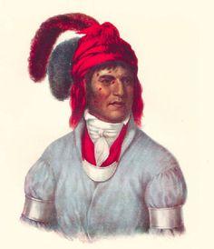 Ledagie, A Creek Chief, McKenney & Hall Edinburg Edition Print