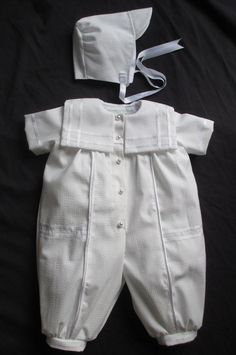 Baby Boy Christening Gown/ Baptism Outfit Romper Size NB 3 6 12 Months on Etsy, $69.99