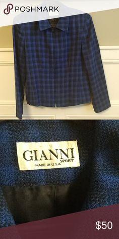 7da3c4fac1c3fa VTG Gianni Sport Blazer 100% wool. Size 6 Excellent condition. Gianni Sport