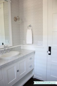 Wallpaper is a great way to add something extra to your Guest #Bathroom http://www.remodelworks.com/
