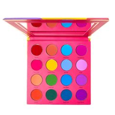 The destination to explore your beauty obsessions Coloured Raine Vivid Pigment Palette Neon Eyeshadow, Orange Eyeshadow, Colourpop Eyeshadow, Blending Eyeshadow, Makeup Eyeshadow, Eyeshadow Palette, Eyeshadows, Bright Eye Makeup, Eye Makeup Art