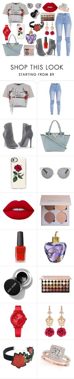 """Rose outfit for Nadja"" by sonjarajajee on Polyvore featuring River Island, Venus, Valentino, Casetify, Christian Dior, Lime Crime, Kester Black, Lolita Lempicka, Tommy Hilfiger and Dolce&Gabbana"
