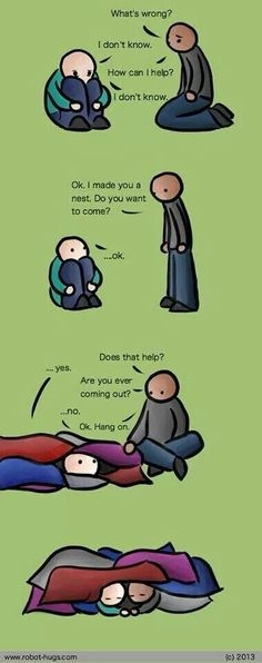 Supporting someone who's depresssed. One of the best things I've ever seen, and so very simple.