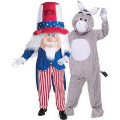 Donkey & Uncle Sam Couples Costume