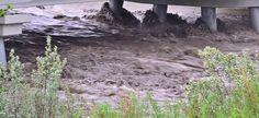 June 20th Turner Valley High Water under bridge
