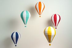 Pre-cut and Pre-scored Hot Air Balloon Kit - Low Poly Craft Kits, Diy Kits, All You Need Is, Balloon Crafts, Paper Crafts, Diy Crafts, Summer Crafts, Low Poly, Hot Air Balloon
