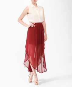 Pleated High-Low Skirt | FOREVER21