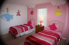 Sand Hill Point home with Disney Princess themed child's room