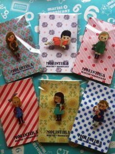 モリンチカの人気商品女の子ブローチ(^_^)本日再入荷!|MOLINTIKAchanの投稿画像