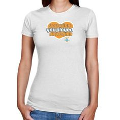 Tennessee Lady Vols Ladies White Wish Girl Slim Fit T-shirt