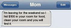 Teenagers. I am so doing this when my kids are older!