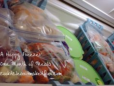 A Happy Freezer:  REALLY EASY Meals!!  Easy to make, Easy to freeze, Easy to cook!!