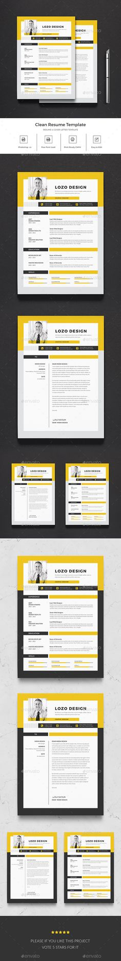 #Resume - #Resumes Stationery Download here: https://graphicriver.net/item/resume/20241782?ref=alena994