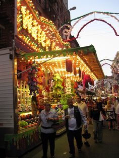 The San Gennaro Festival in Little Italy. It's great fun and there's a lot of food. NEW YORK CITY. (by berk2804, via Flickr)