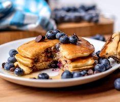Blueberry Chocolate Chip Pancakes - Cafe Delites cafedelites