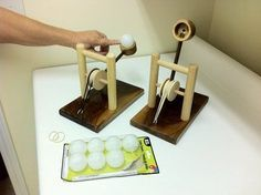 Catapult : DIY using pingpong balls