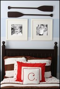 Love the oars in this cute nautical #boy #room!