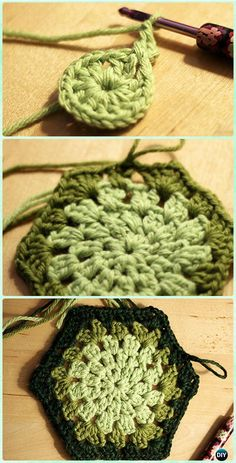 Crochet Granny Hexagon Motif Free Pattern - Crochet Hexagon Motif Free Patterns