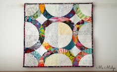 Anna Maria Horner mini quilt using the January Block pattern by Lady Harvatine | Ms. Midge