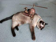 猫用飛行装置を作ってみた【スチームパンク風】
