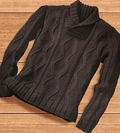 Мужской пуловер спицами no clue what it say. But i love Russia for their beautiful knitting patterns :D Frugal Male Fashion, Pullover Sweaters, Men Sweater, Crochet Cowl Free Pattern, Herren Outfit, Knitting Designs, Knitting Patterns, Knitwear, Mens Tops