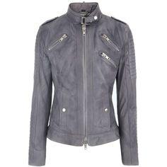 Eickhoff Frost Grey Leather Jacket Paddy via Polyvore