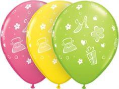 Girly Purses, Shoes & Daisies Latex Balloons 25pk