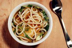 15 Minute Udon Noodle, Bok Choy & Poached Egg: I love slurpy noodle soups.