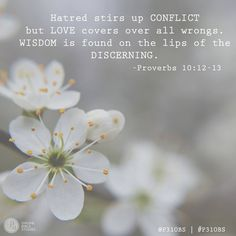 Our Memory Verse for Week 1 ~ Proverbs 10:12-13