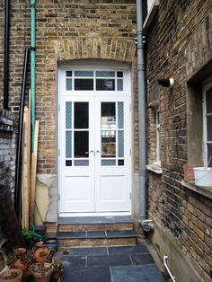 Victorian French Patio Double Doors Hardwood Glazed