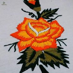 Simple Embroidery Designs, Hand Embroidery Patterns Flowers, Hand Embroidery Projects, Basic Embroidery Stitches, Hand Embroidery Videos, Hand Work Embroidery, Creative Embroidery, Couture, Crochet