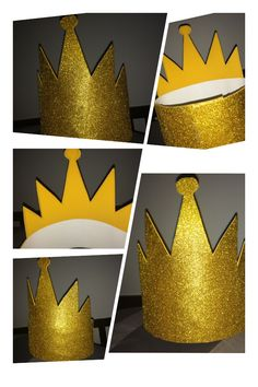 Evil Queens Crown- Poster paper (49¢) Glitter foam (77¢) & Glue Gun